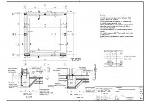 R1 - Plan fundatii cu detalii
